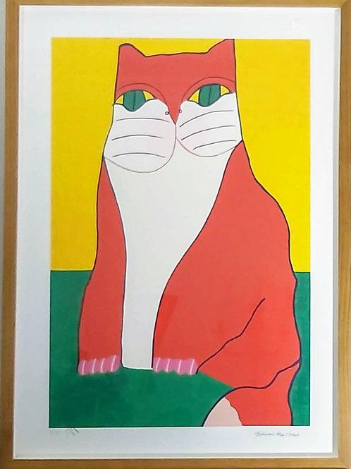 Obra de Aldemir Martins - Gato de Olho Verde