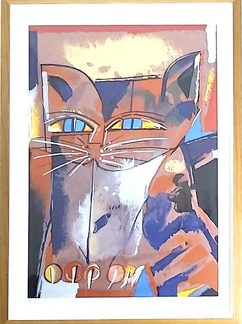 Obra Gato de Olho Azul de Aldemir Martins