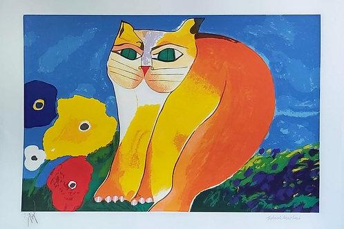 Obra Gato com Flor