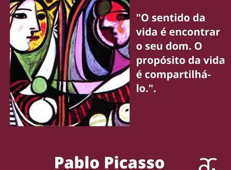 Mais uma frase do gênio Picasso