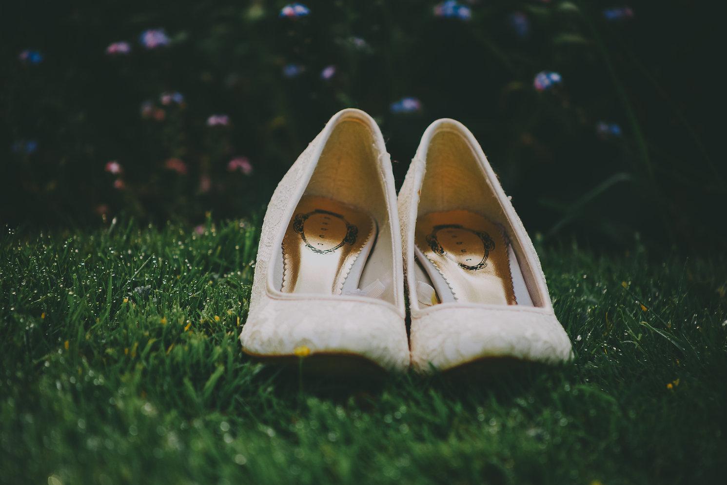 Gorgeous bridal wedding shoes