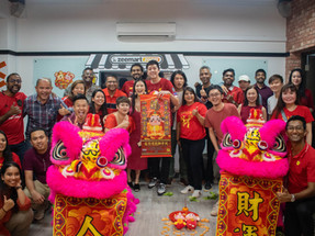 Chinese New Year, Lion Dance, and Lo Hei Festivity in Zeemart