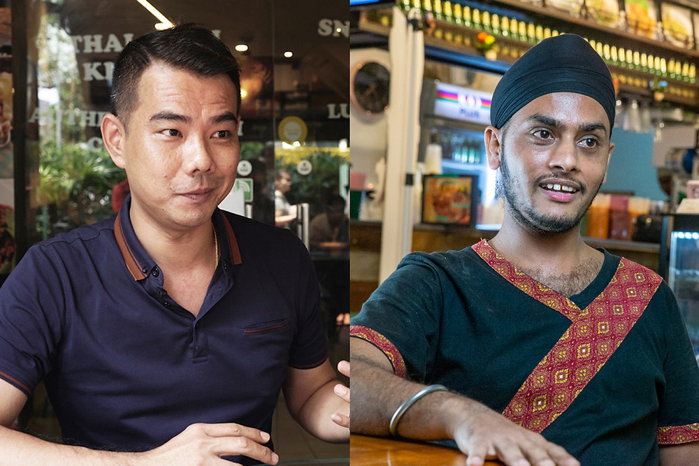 Keith Teo (left), the business owner and Hira Singh (right), the supervisor of Noodle Thai Thai Kitchen