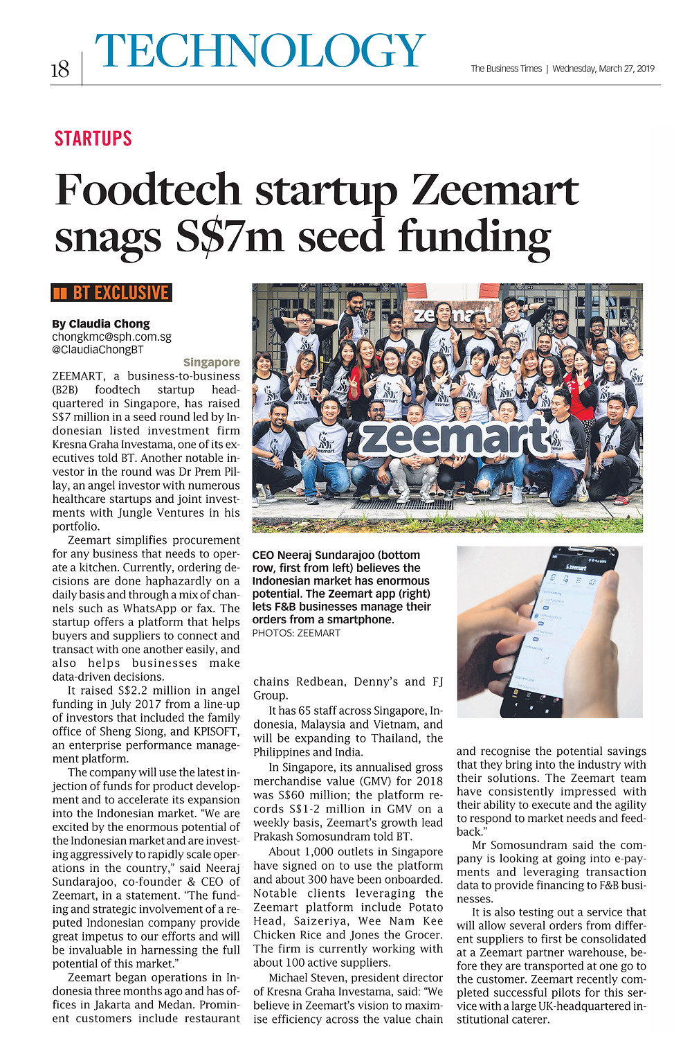 Foodtech startup Zeemart snags S$7m seed funding