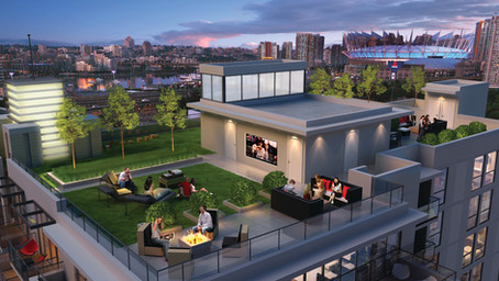 Keefer Block's Rooftop Deck Offers Residents Views and Entertainment