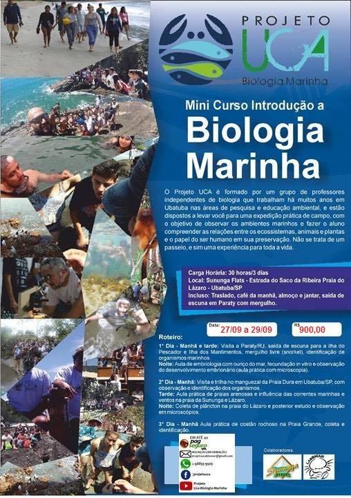 Mini Curso Introdução à Biologia Marinha - SAAD