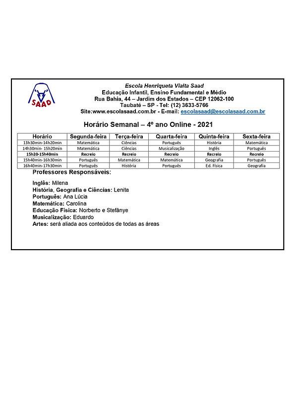 Horário de aulas 4ºano Online  2021_page