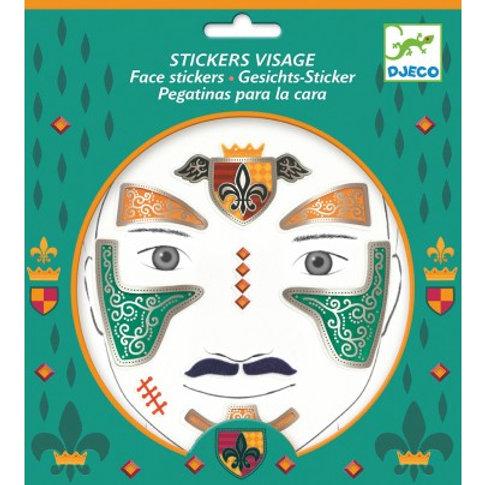 Stickers visage Chevalier