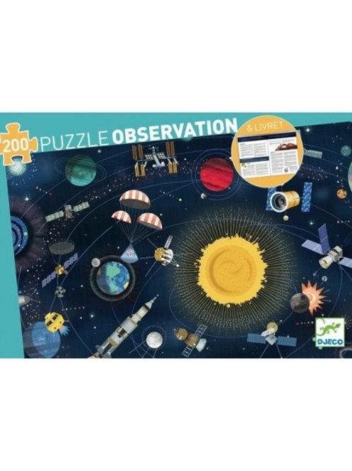 Puzzle d'observation et son livret l'Espace