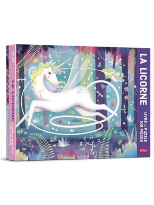 Puzzle et livre Licorne 100 pièces