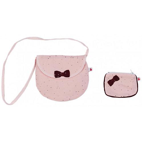 Ensemble sac  & porte-monnaie rose