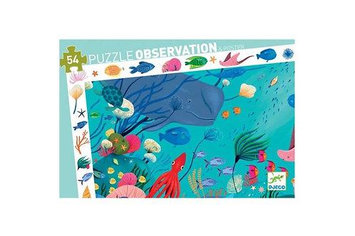 Puzzle d'observation Aquatique 54 pièces