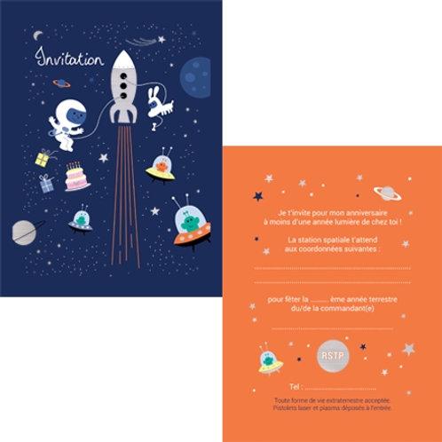 Cartes d'invitations Cosmos X8
