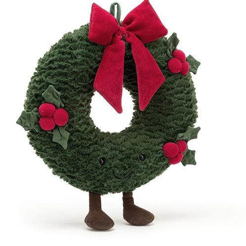 Peluche Couronne de Noël