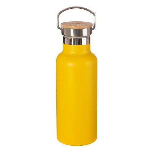 Gourde inox et bambou jaune