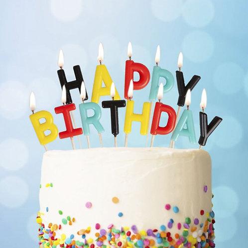 Bougies Happy Birthday Superhero
