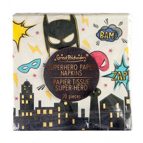 Serviettes Super-héros X20