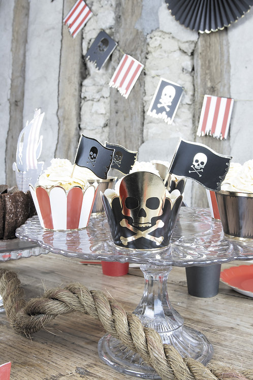 Cupcake Wrappers Pirates X6