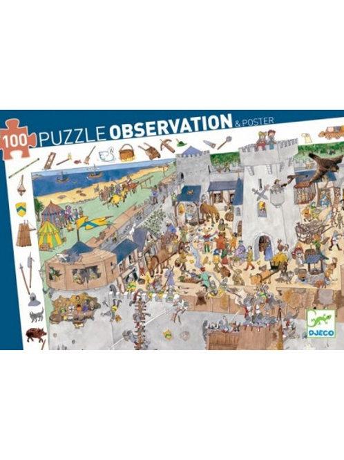 Puzzle d'observation Château Fort 100 pièces