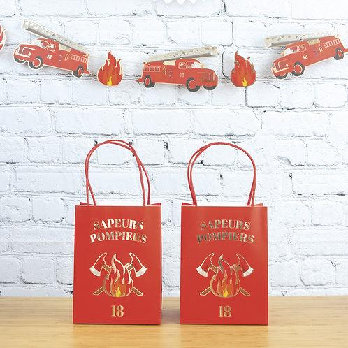 Sacs cadeaux Pompiers X4