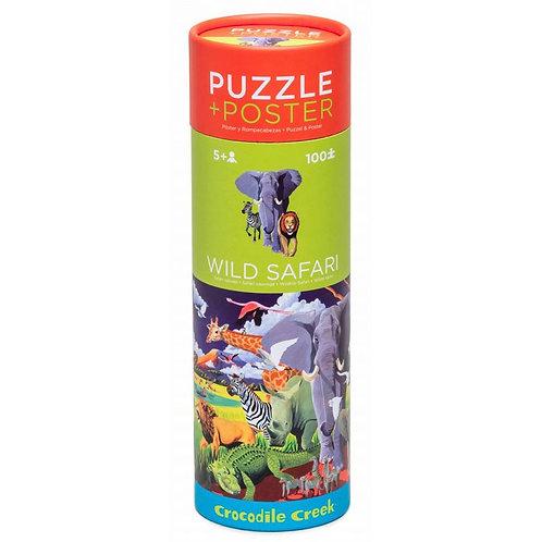 Puzzle et poster Safari 100 pièces