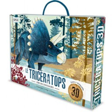 Maquette 3D et son livre Triceratops