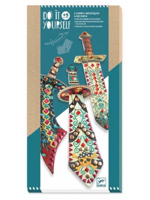 Sabres mosaïques à décorer