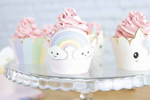 Cupcake Wrappers Baby Licornes X6