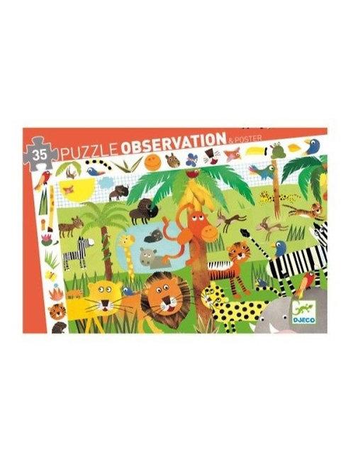 Puzzle d'observation Jungle 35 pièces