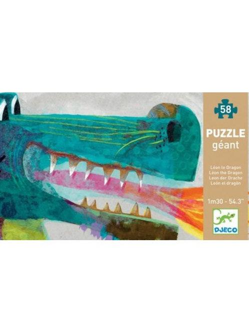 Puzzle géant Léon le Dragon 58 pièces