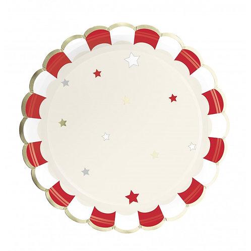 Assiettes Rouges et blanches