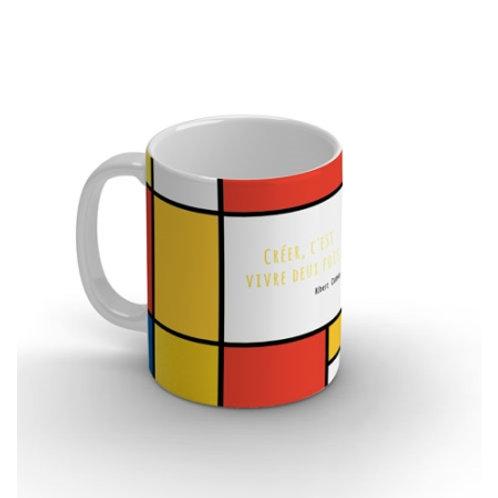 """Joli mug """"Créer c'est vivre deux fois"""""""