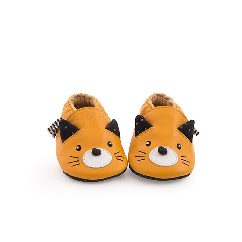 Chaussons cuir Chat 0-6 M