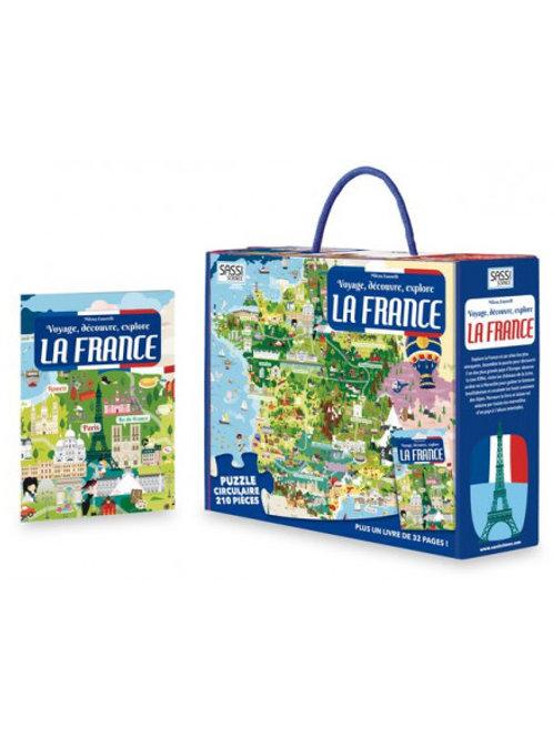 Puzzle et livre La France 210 pièces