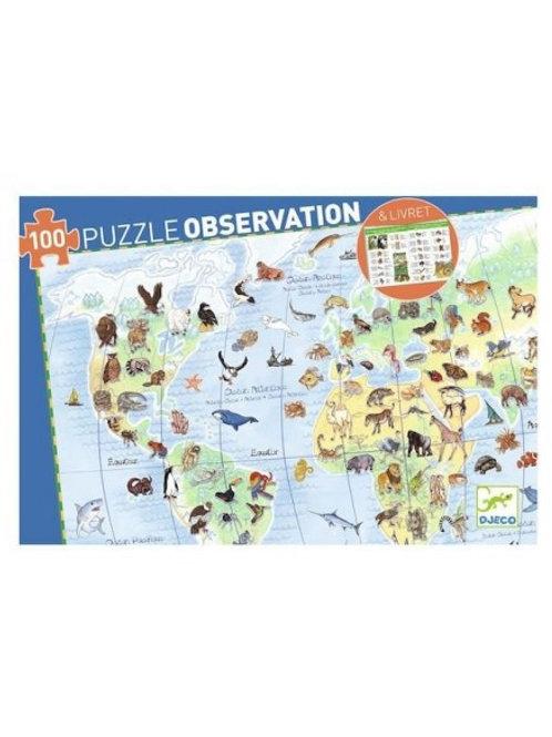 Puzzle d'observation et son livret Les Animaux du Monde