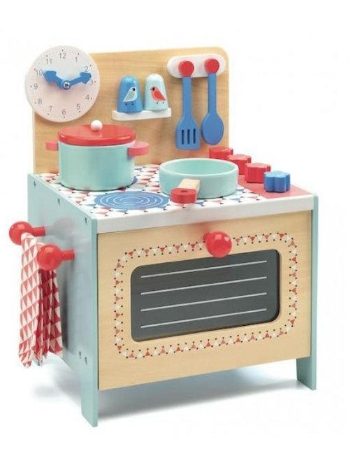 Cusinière en bois bleue