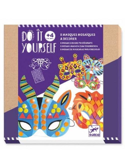 Masques mosaïques à décorer