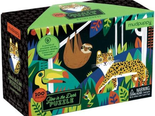 Puzzle phosphorescent Forêt tropicale 100 pièces