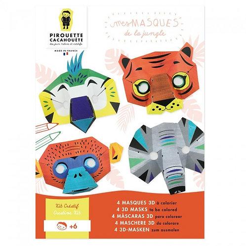 Kit créatif Les Masques de la Jungle 3D