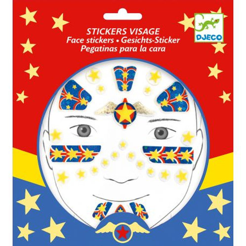 Stickers visage Super-héro