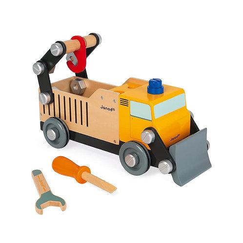 Camion de chantier en bois Brico'kids