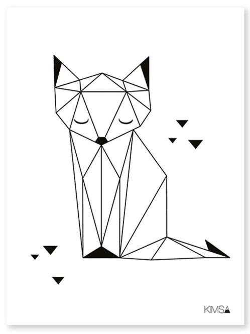 Affiche Renard Géométrique
