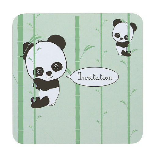 Cartes d'invitations Panda X8
