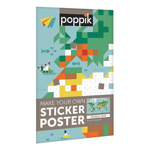 Poster géant + stickers Carte du Monde