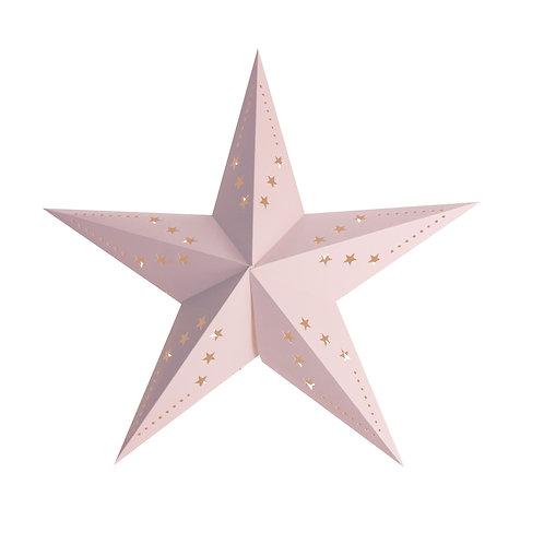 Lanterne étoile rose 30 cm
