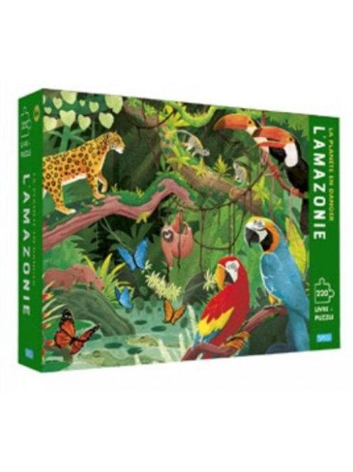 Puzzle et livre La planète en danger Amazonie 220 pièces