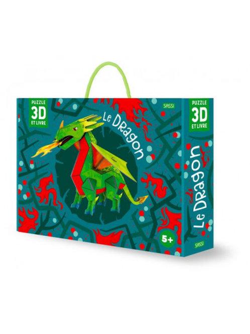 Maquette 3D et son livre Le Dragon