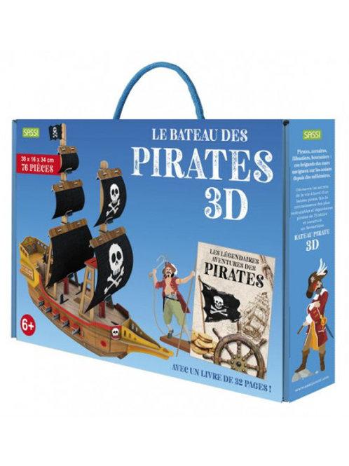 Maquette 3D et son livre Le Bateau des Pirates