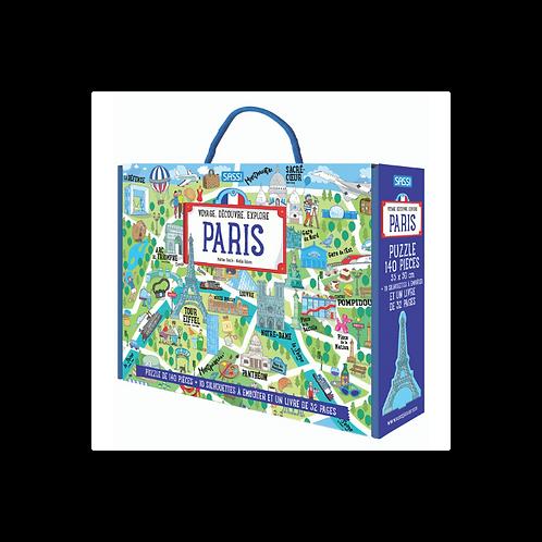 Puzzle et livre Paris 140 pièces