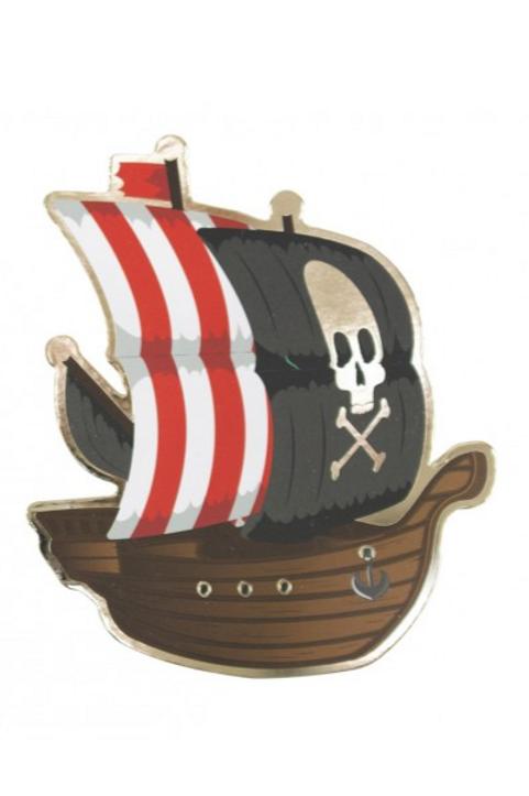 Cartes d'invitations Pirates X8